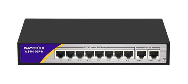 WS4010GP-B全千兆PoE供电交换机